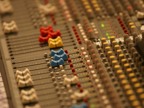 Controls on a soundboard