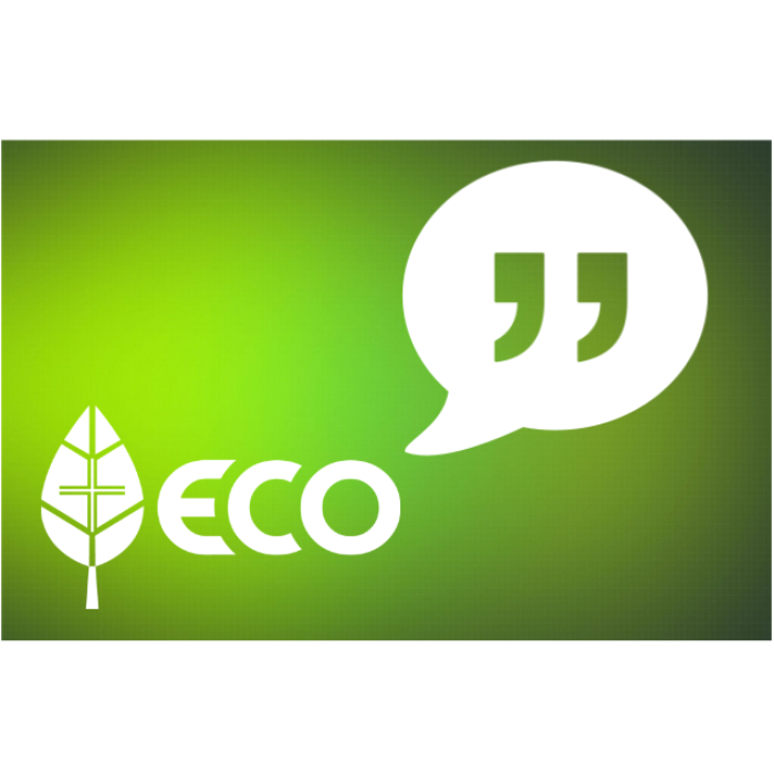 ECO logo with quotation mark